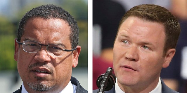 Rep. Keith Ellison, D-Minn., left, and former state Rep. Representative Doug Wardlow are competing in a close race for Minnesota Attorney General.
