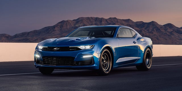 Chevrolet's electric Camaro race vehicle packs an 800-volt battery