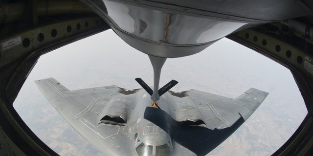 The aircraft can be refueled while in the air so they can keep running missions.