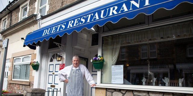 Sean O'Flaherty owner of Duets Restaurant in Weston-super-Mare.