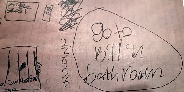 A hand-drawn map of the school was allegedly discovered in the home of one girl with the words,