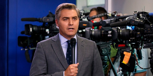CNN's Jim Acosta shouted at President Trump during Wednesday's press conference, according to a source. (AP Photo/Evan Vucci)