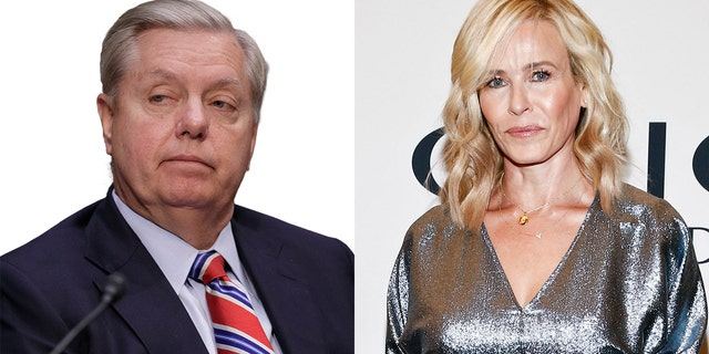 Chelsea Handler, right, has made repeated comments about Sen. Graham's sexuality on social media.