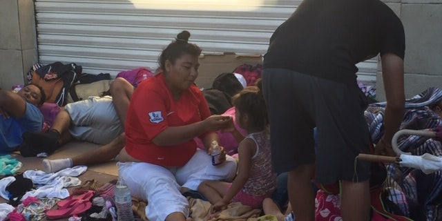 The caravan traveled 25 miles on Monday. They plan to walk 43 miles on Wednesday. Many of those walking were suffering from exhaustion, dehydration, heat stroke. Some sought medical attention from local clinics. But the numbers have not waned.