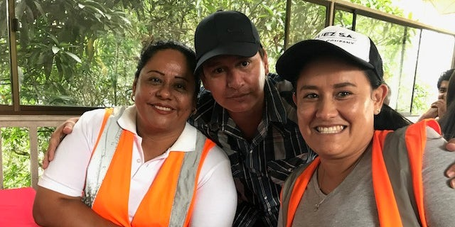 Mine workers Jenny and Ivonne say they are supported in their community