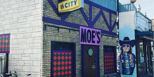 """Nickel City in East Austin, Texas, turned into the famous Moe's Tavern from """"The Simpsons"""" for Halloween."""