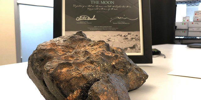 The 12-pound lunar meteorite was discovered in Northwest Africa in 2017, the auction house said.