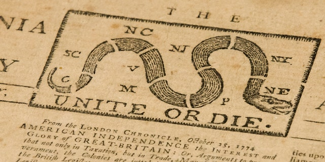 "A quick eye by Goodwill workers in southern New Jersey turned up the original 1774 Philadelphia newspaper with an iconic ""Unite or Die"" snake in the masthead."