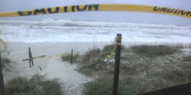 Rough surf as seen on Panama City Beach, Fla. as Hurricane Michael approaches the coast on Wednesday.