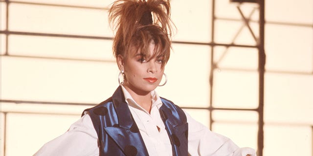 Paula Abdul dances during the filming of the video for her hit song