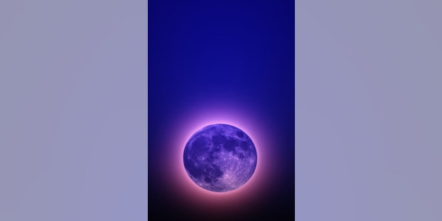 Scene of full moon in space, Creative works. (Credit: iStock)