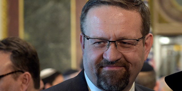 Sebastian Gorka left the White House in 2017. (Associated Press)