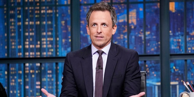 """Late Night"" host Seth Meyers poked fun at Northam for not identifying whether he was the one in blackface or in the KKK hood, calling it a ""real lose-lose."""