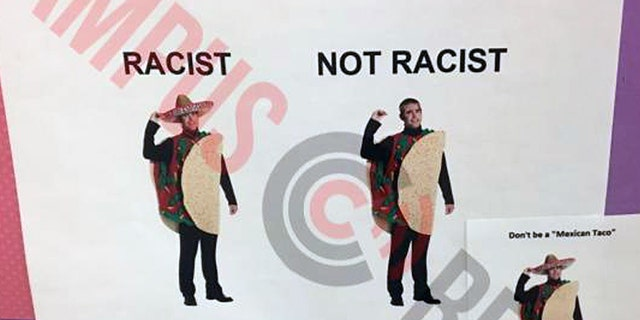 Michigan State University has posters instructing students on whether or not their Halloween costume is racist.