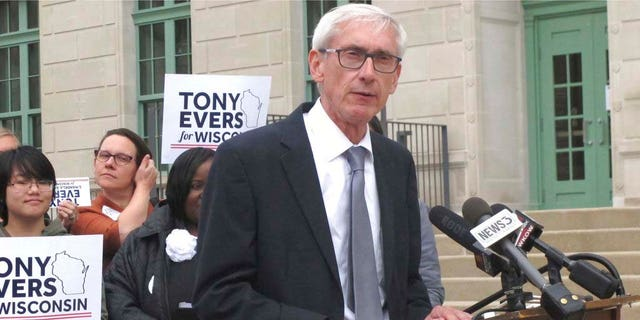In this Sept. 28, 2018 photo, Democratic candidate for governor Tony Evers, speaks in Madison, Wis. (AP)