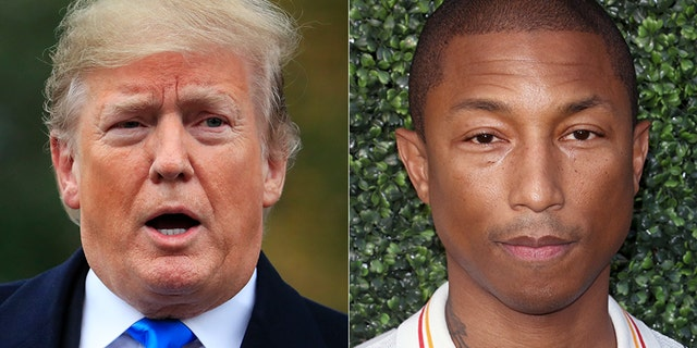 """Singer Pharrell Williams' lawyer sent President Trump a cease-and-desist letter overuse of the hit song """"Happy"""" at a rally."""