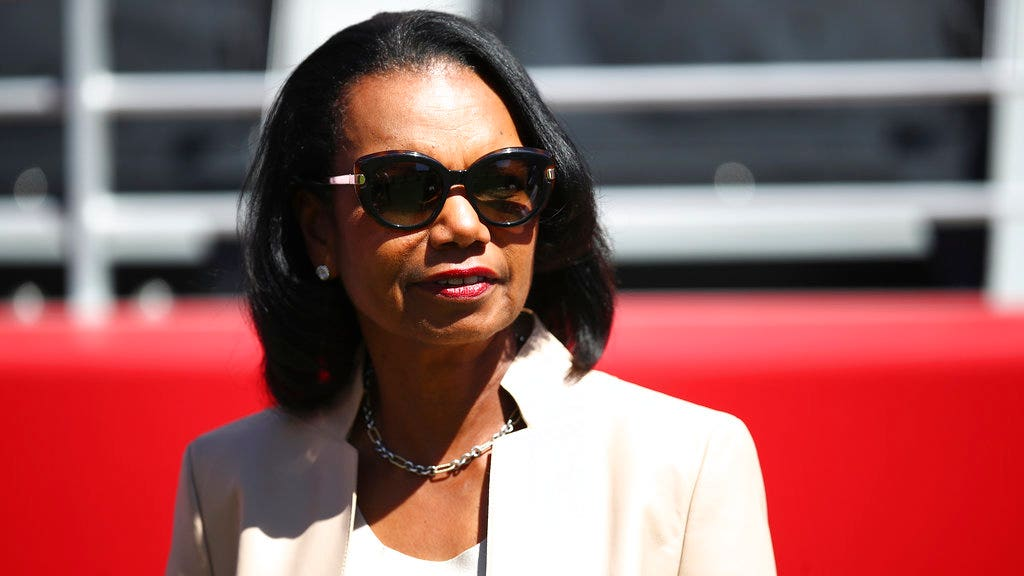 "Condoleeza Rice to liberals. ""Don't assume how we think""."