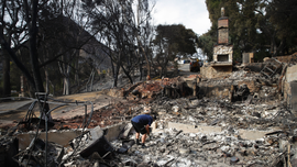 The Latest: Body found in burn zone of S. California fire