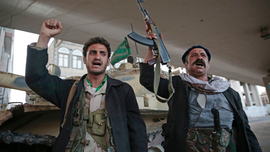 The Latest: UN draft resolution urges Yemen peace talks