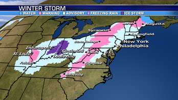 Wintry precipitation moves through Northeast; flood watches posted across Southeast