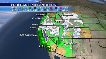 California threatened by heavy rainfall; another storm takes aim at the Plains