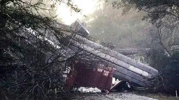 Georgia derailment involves 30 rail cars; no one injured, company says