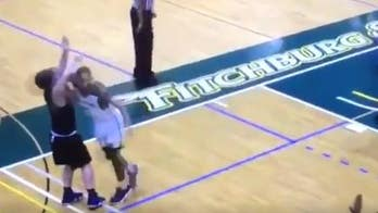 GRAPHIC VIDEO: College basketball player booted from campus after cheap shot