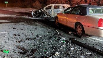 Elderly driver killed, 6 injured in wrong-way interstate crash