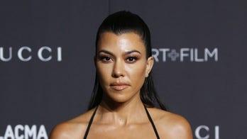 Kourtney Kardashian glows in the dark in white-hot thong bikini