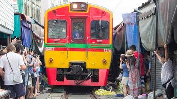 Instagram star slammed for 'dangerous' photo in front of moving train