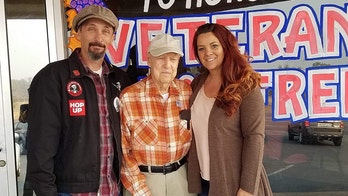 World War II veteran 'adopted' by California couple after wildfires displace him