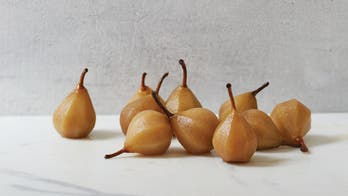 Brandy Poached Pears
