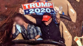 Man banned from Disney World after displaying Trump sign on Splash Mountain