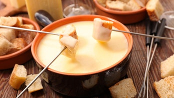 Swiss airline appropriately offering cheese fondue mid-flight