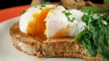 Stewed Tomatoes and Zucchini with Poached Eggs