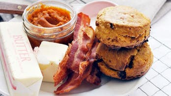 Maple pumpkin bacon biscuits