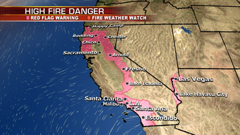 Fire conditions elevated across Northern California; wintry system moves through the Plains