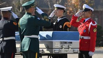 Military honors unidentified fallen Korean War hero in solemn ceremony