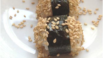 Sesame Rice Balls Wrapped in Nori