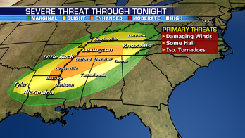 Severe weather hits the Southeast, many will see a stormy Election Day
