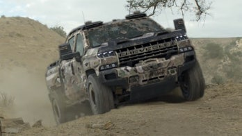 Stealthy hydrogen-powered Chevrolet Silverado military truck breaks cover