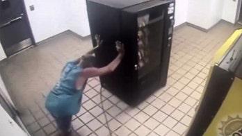Video shows Florida burglar taking vending machine for a ride in elevator