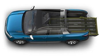 Volkswagen Tarok pickup is a transformable truck