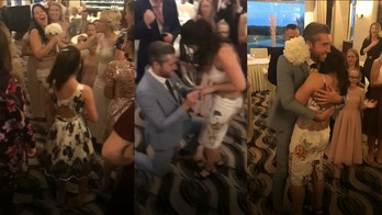 Bridesmaid immediately gets engaged after catching wedding bouquet