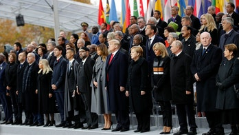 World War I centennial marked by Trump, world leaders in Paris, as Macron urges countries to 'fight for peace'