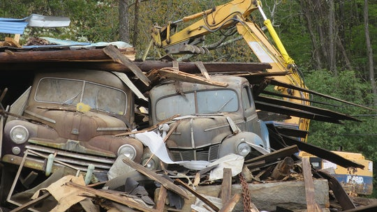 Dozens of classic cars saved from collapsed barn up for sale