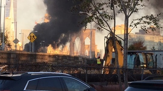 Fiery car crash on Brooklyn Bridge leaves one person dead, six others injured, officials say