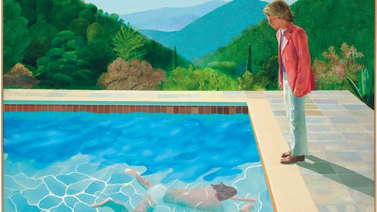 Hockney's famous 'Portrait of an Artist' painting is sold for $90.3M, shattering record