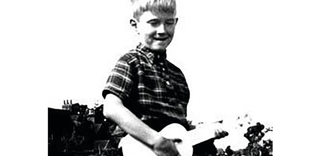 A young Eric Clapton.