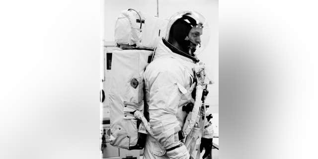 Astronaut Russell Schweickart, Apollo 9 prime crew lunar module pilot, participates in a Countdown Demonstration Test (NASA)